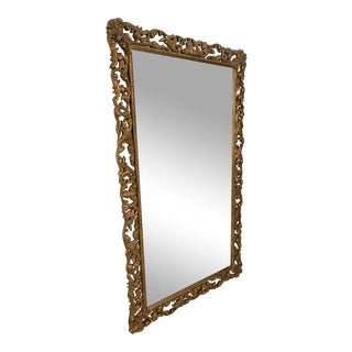 Baker Floor Mirror With a Gold Leaf Finish For Sale