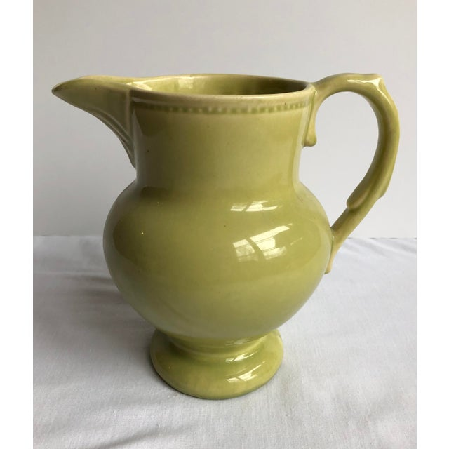 Mid-Century Modern Mid 20th Century Green Pottery Collection - Set of 3 For Sale - Image 3 of 12