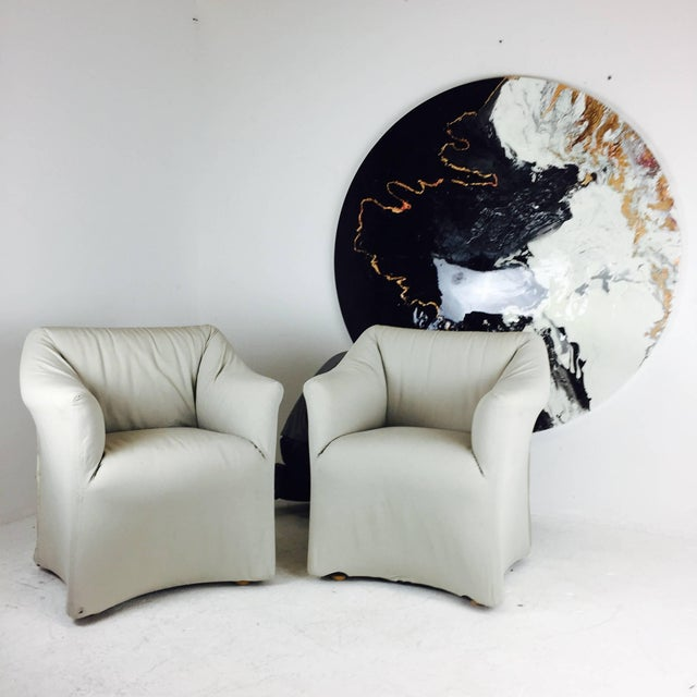 Cassina Pair of Tentazione Lounge Chairs for Cassina by Mario Bellini For Sale - Image 4 of 5