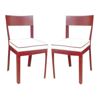 Pair of Jules Leleu and Ateliers Jean Prouve Metal Side Chairs For Sale