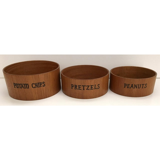 Danish Modern Wooden Snack Bowls - Set of 3 For Sale In New York - Image 6 of 6