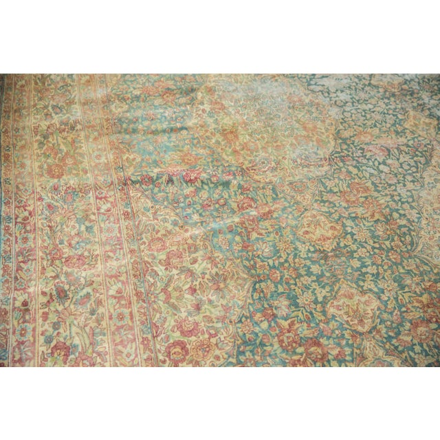 Vintage Distressed Kerman Carpet - 10' X 16' For Sale - Image 12 of 13