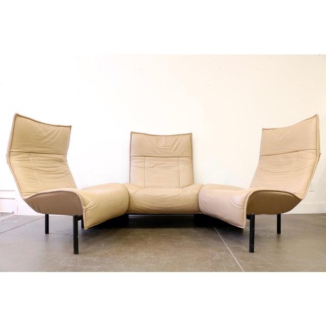 Leather Veranda 3 Sofa by Vico Magistretti for Cassina For Sale - Image 13 of 13