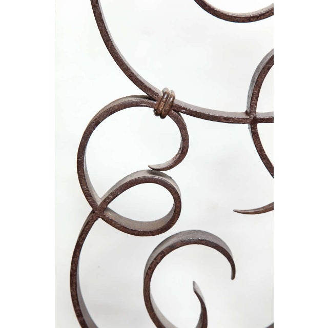 1930s Unusual French Art Deco Figural Fire Screen For Sale - Image 5 of 10