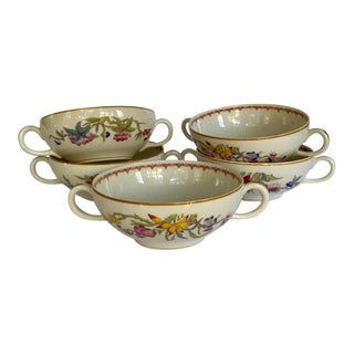 1950s Old Ivory Syracuse China Cup Set of Bowls - Set of 5 For Sale