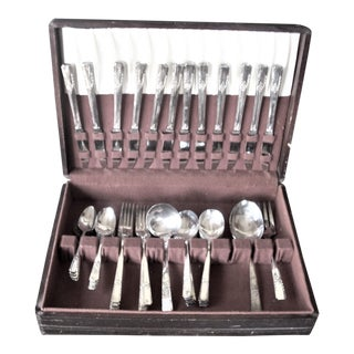 Rogers/Oneida Silverplate Flatware (Service for 12) For Sale