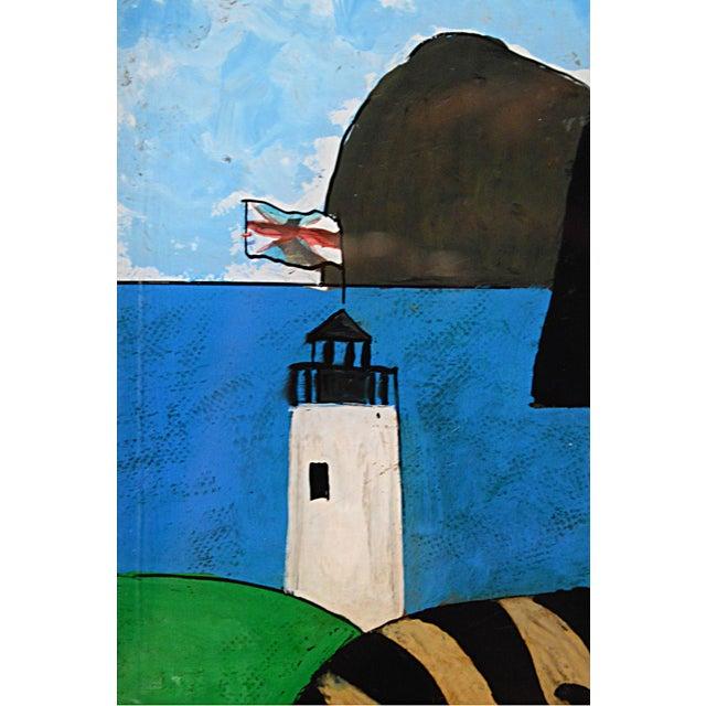 Folk Art Spanish Folk Art Reverse Painting For Sale - Image 3 of 6