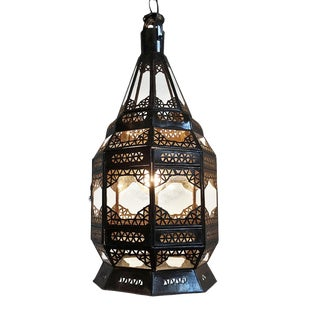 Clear Glass Hanging Lantern For Sale