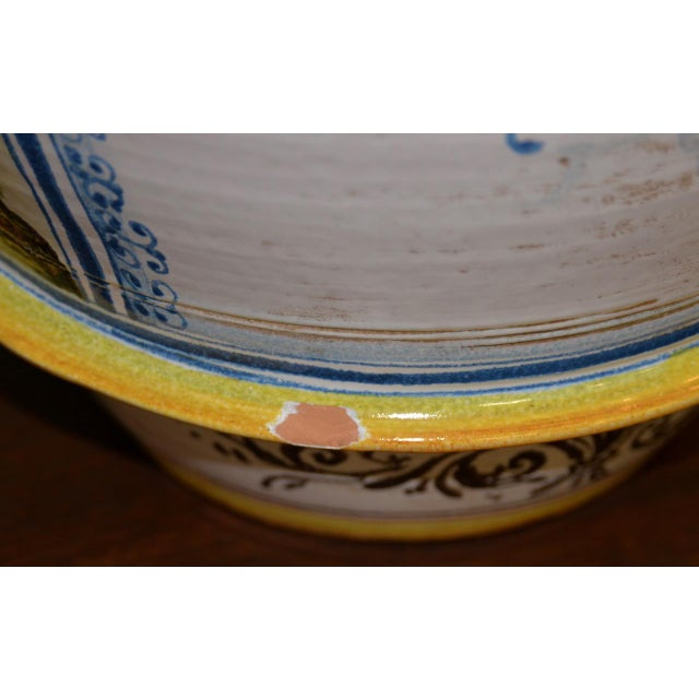 Blue Mid 20th Century Hand Painted Portuguese Jardiniere C.1950 For Sale - Image 8 of 10