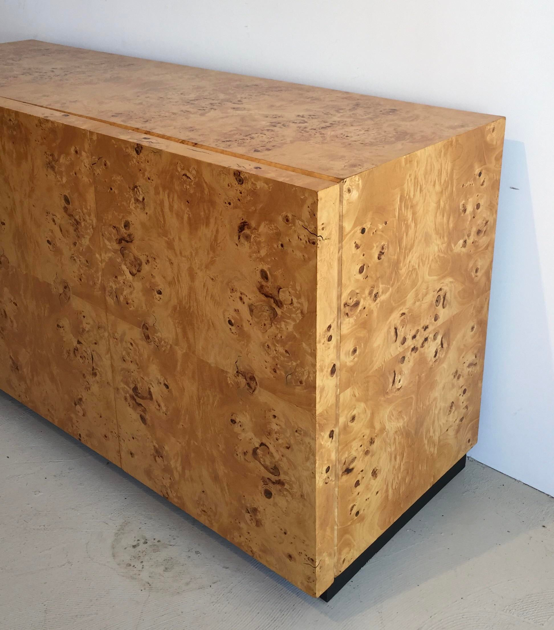 This Is A Mid Century Burl Wood Credenza Designed By Milo Baughman. Three  Doors