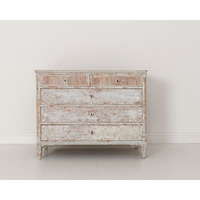 Early 19th Century 18th Century Swedish Gustavian Period Commode in Original Paint For Sale - Image 5 of 11
