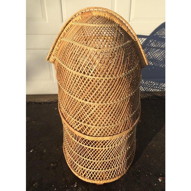 Bohemian Wicker Bassinet For Sale - Image 5 of 11