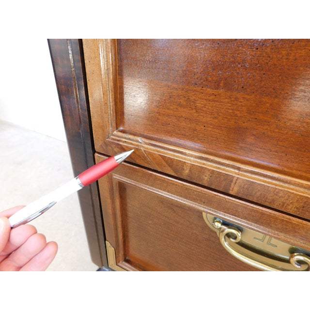 """Broyhill Premier """"Ming"""" Collection Armoire / Chest For Sale - Image 9 of 13"""