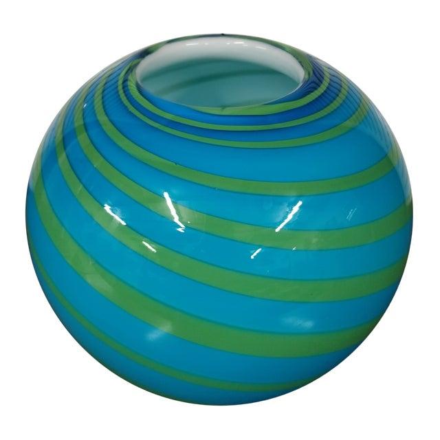Swirled Art Glass Vase For Sale