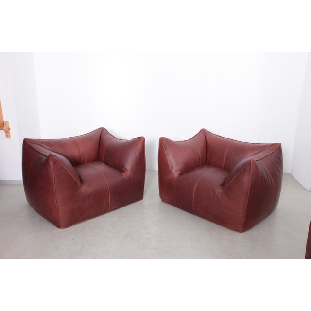 Brown Pair of Le Bambole Lounge Arm Chairs B&B Italia, 1970s by Mario Bellini For Sale - Image 8 of 8