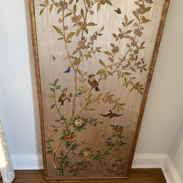 Hand Painted Chinoiserie Wall Panels- a Pair For Sale - Image 10 of 13