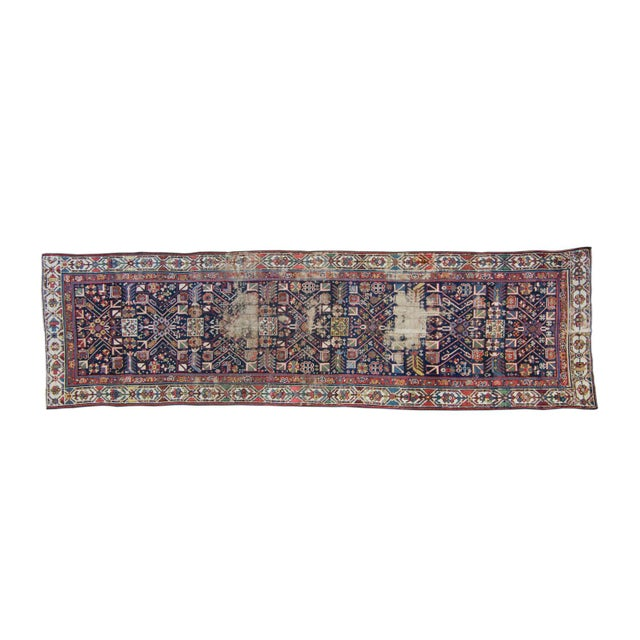 House of Séance - 20th Century Antique Caucasian Handwoven Rug - 3′1″ × 10′10″ For Sale - Image 11 of 11