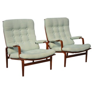Pair of Bruno Mathsson for Dux Ingrid Arm or Lounge Chairs For Sale