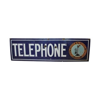 1920s Lincoln Telephone & Telegraph Company Sign For Sale