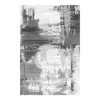 Abstract Gray Area Rug - 8'x 10'6''