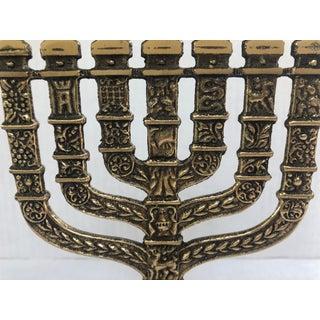 Vintage Seven Arm Hen-Holon Israel Brass Menorah Preview