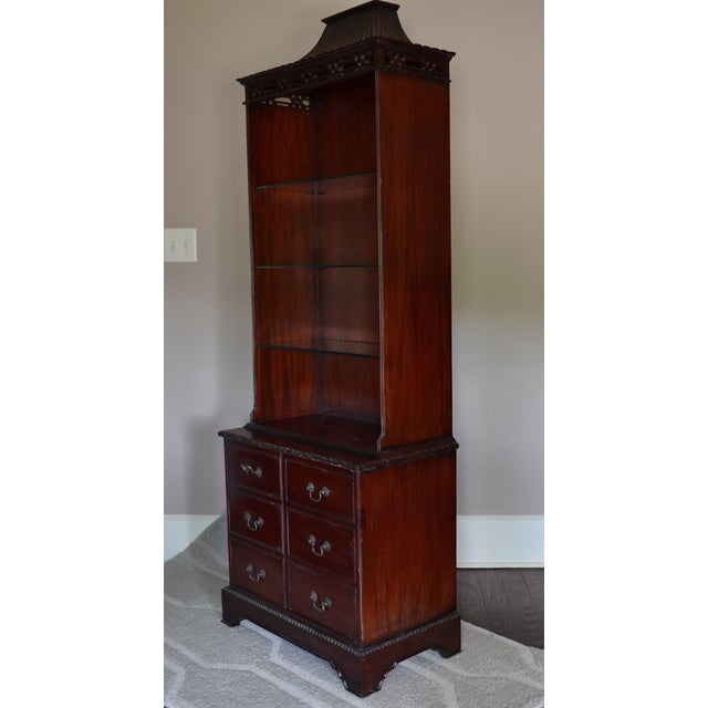 Mahogany Chinese Chippendale Bookcase - Image 4 of 9