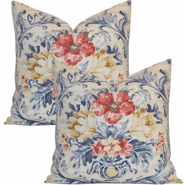 Pierre Deux Floral Pillows - A Pair - Image 2 of 3