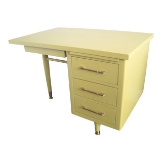 Mid-Century Modern Light Green Desk