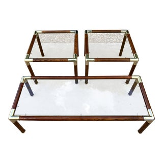 Mid-Century Campaign Style Table's - Set of 3 For Sale