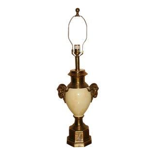 Ethan Allen Regency Style Ram's Head Lamp