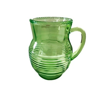 1950's Glass Water Lemonade IceTea Pitcher Retro Green Preview