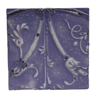 Purple 2 Fold Floral Tin Panel For Sale
