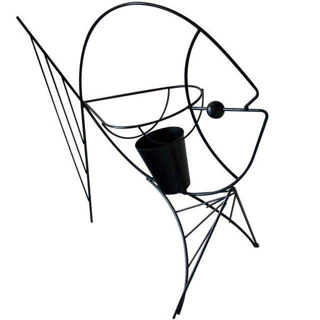 1950s Frederick Weinberg Black Iron Fish Sculpture For Sale - Image 5 of 5