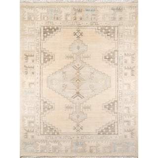"""Erin Gates Concord Walden Beige Hand Knotted Wool Area Rug 7'9"""" X 9'9"""" For Sale"""
