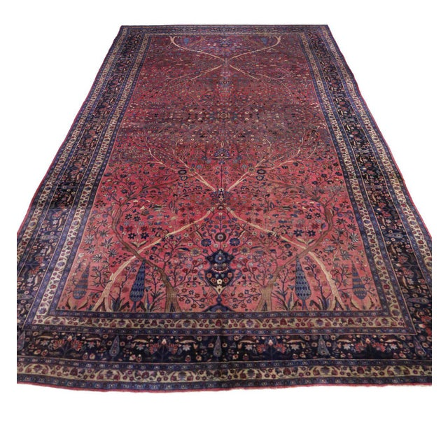 Captivating Antique Persian Mashhad Gallery Rug in Jewel Tone Colors For Sale - Image 5 of 10