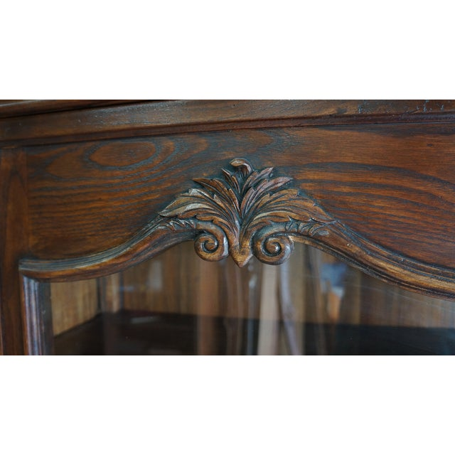 French Provincial Display Cabinet Hutch For Sale - Image 5 of 11