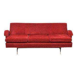 1960's Italian Mid-Century Modern Red Sofa Bed