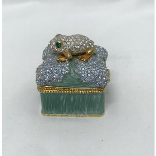 Jeweled Hinged Ring Box With Frog Preview