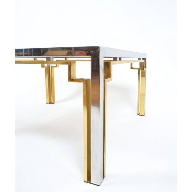 Metal Exquisite Double-Frame Coffee Table Attributed to Romeo Rega For Sale - Image 7 of 9