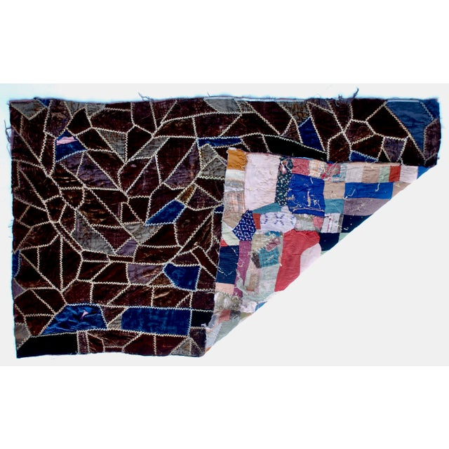 Late 19th Century 19th Century American Crazy Quilt For Sale - Image 5 of 8