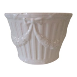 Vintage Blanc Cache Pot