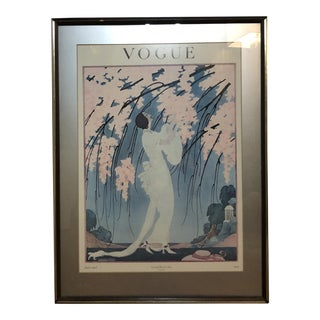 Vogue Art Deco Magazine Cover From 1919, Framed For Sale