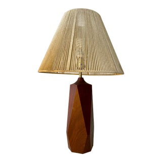 Mid Century Modern Sculptural String Shade Table Lamp For Sale