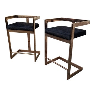 """""""Kelly"""" Rose Gold Counter Stools - a Pair"""