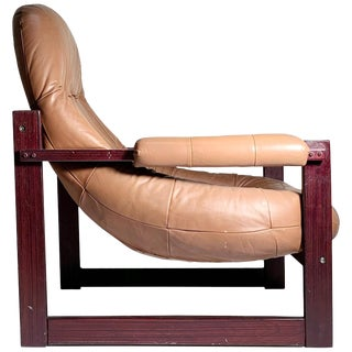 Percival Lafer Brazilian Leather Lounge For Sale