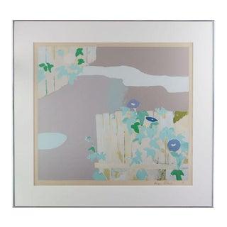 "1975 ""Morning Glory"" Abstract Botanical Print by Kenzo Okada, Framed For Sale"
