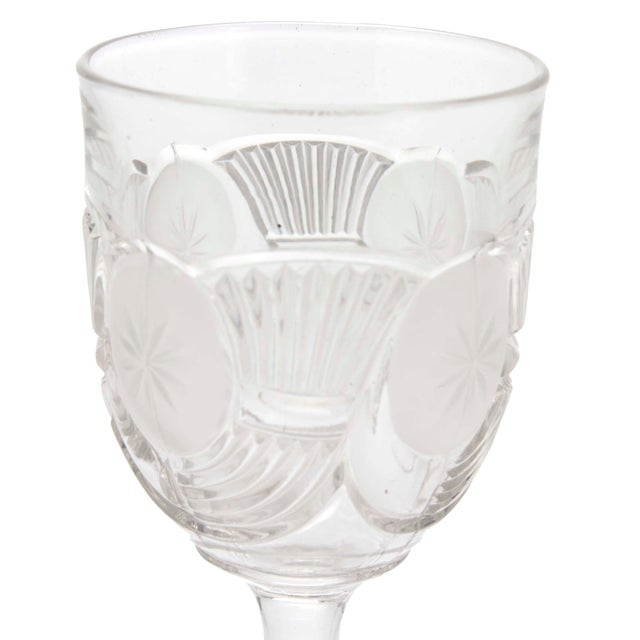 Victorian Blown Crystal Goblets by the Bryce Brothers Company Circa 1890s, Set of 6 For Sale - Image 4 of 6