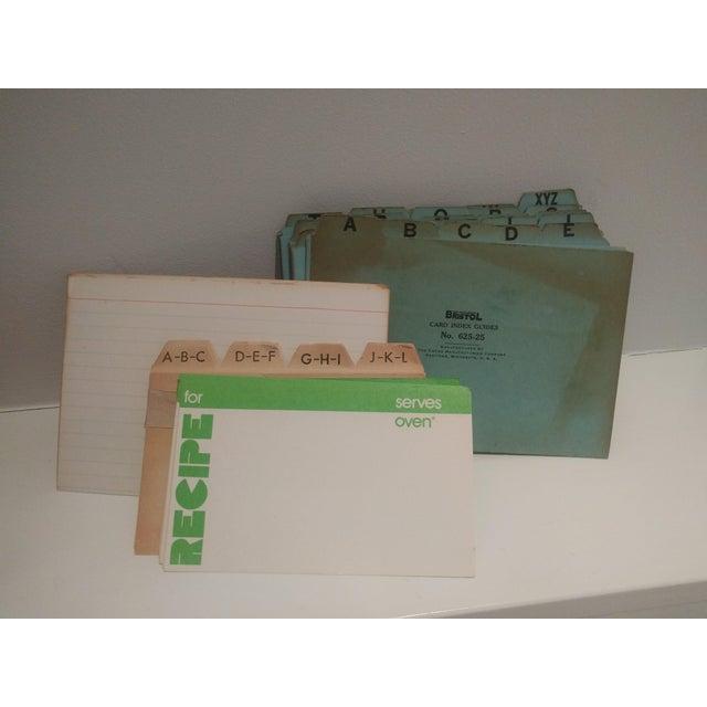 Vintage Golden Oak Wooden Index Box - Image 7 of 7