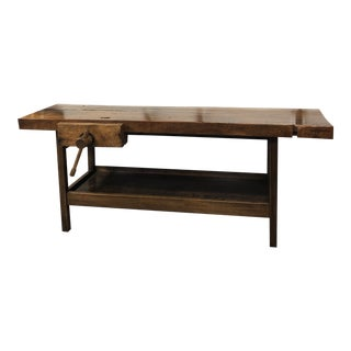 Antique Wooden Carpenters Bench For Sale