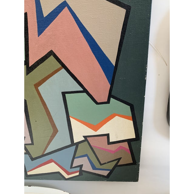 1960s Abstract Painting by Achi Sullo For Sale - Image 4 of 5